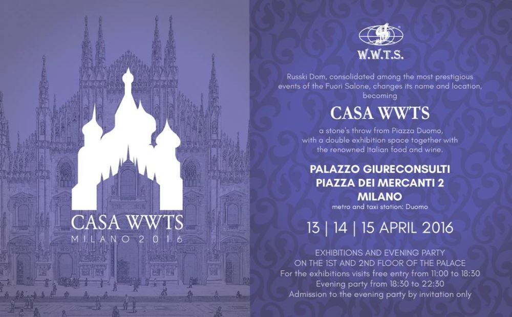 I 4 MARIANI TO FUORISALONE 2016 WITH CASA WWTS