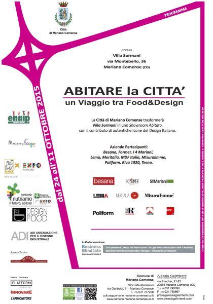 ABITARE LA CITTA': i 4 MARIANI WITH DESIGN FOR FOOD EXPO 2015