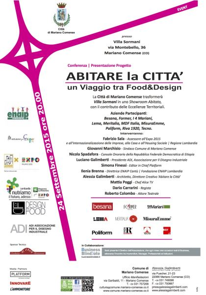 ABITARE LA CITTA': i 4 MARIANI WITH DESIGN FOR FOOD EXPO 2015