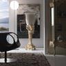 Ballabio Italia Furnishing Accessories ART NAPOLEON CAPITAL COLUMN STAND glossy white lacquered finish