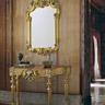 Ballabio Italia ART 816 SPECCHIERA e ART 883 CONSOLLE oro e argento foglia