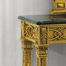 Ballabio Italia ART. 893 PARTICOLARE CONSOLLE Stile Luigi XVI finitura oro foglia