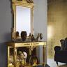 Ballabio Italia ART 897 CONSOLLE e ART 1769 SPECCHIERA Impero finitura oro foglia