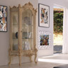 Ballabio Italia Display Cabinets ART NAPOLEON CABINET with gold leaf finish.