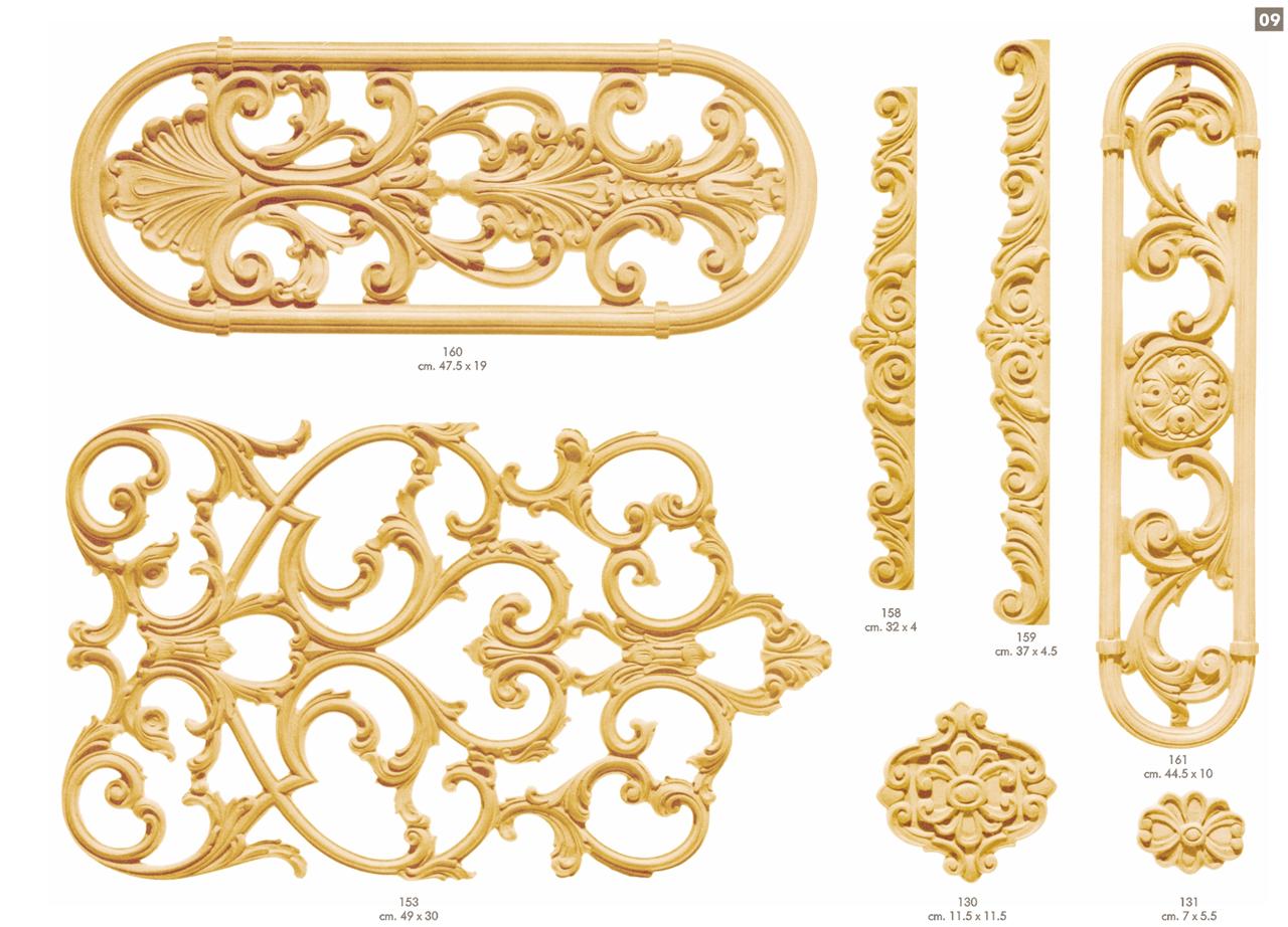 Prodotti fregi ballabio italia s a s - Decorazioni in legno per mobili ...