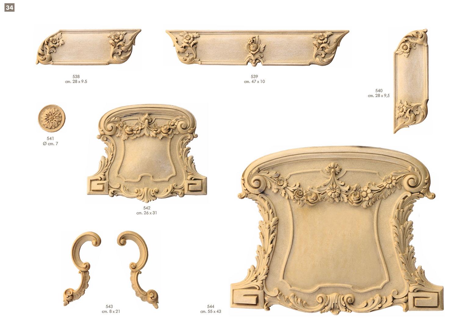 Prodotti fregi ballabio italia s a s - Decori in legno per mobili ...