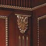 Ballabio Italia Детали письменного стола, фриз с отделкой серебром
