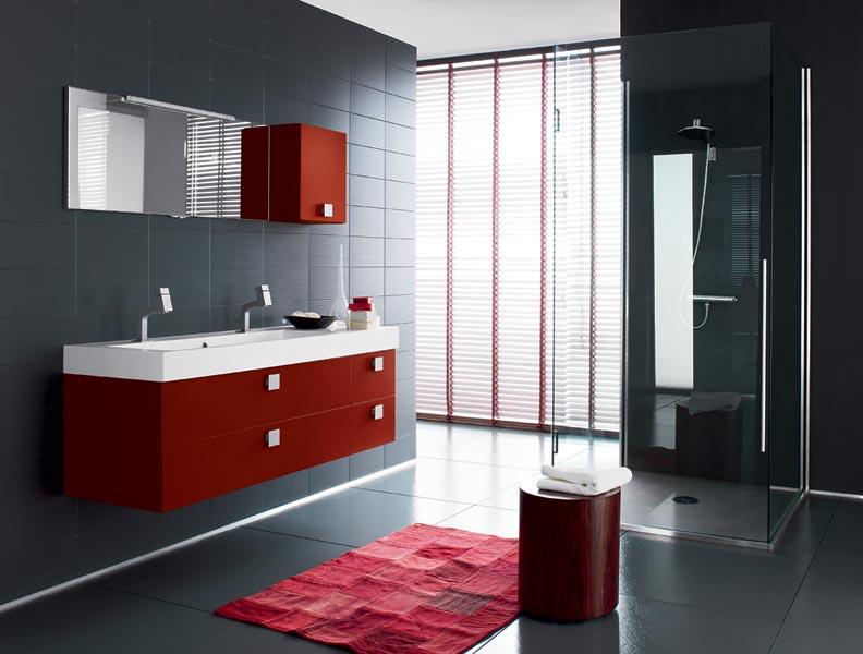 Vidori habitas prodotti arredo bagno - Bagno mosaico rosso ...