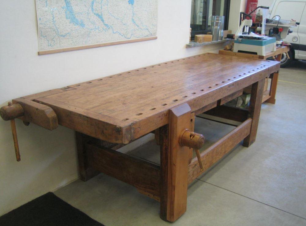 Banco da falegname in legno - Tavoli in legno usati ...